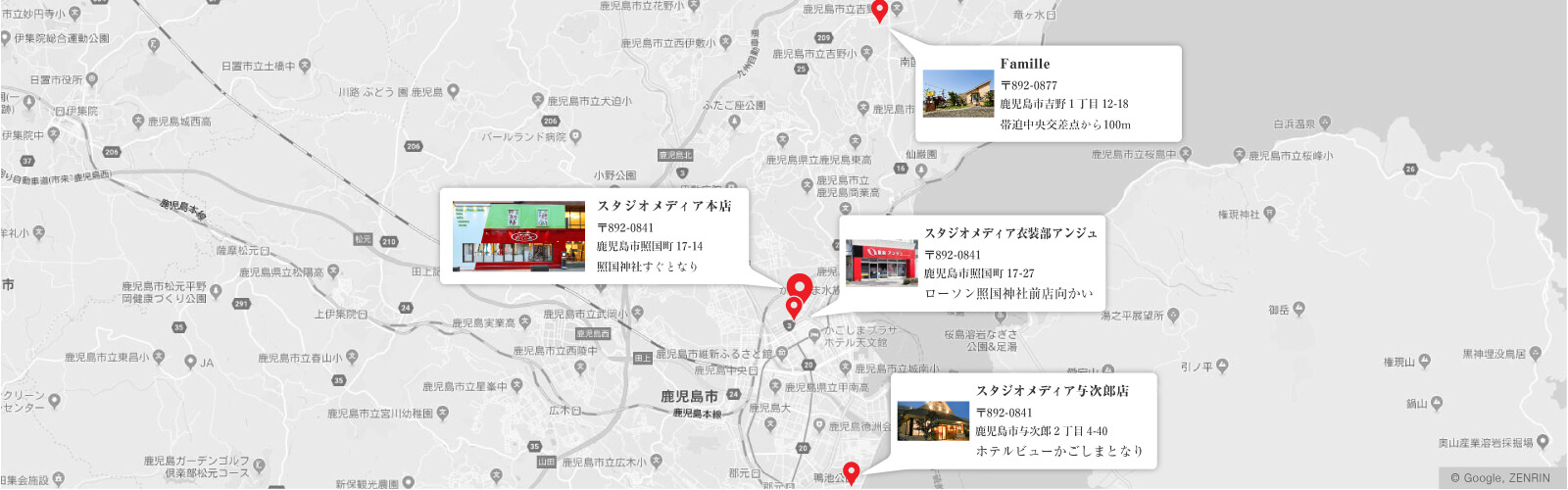 スタジオメディアグループ地図